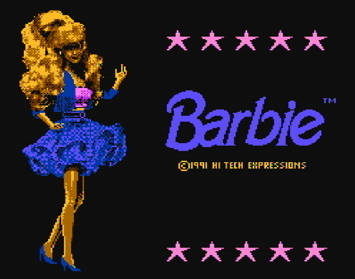 Титульный экран из игры Barbie / Барби