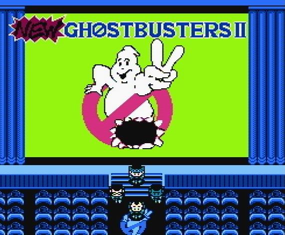 Титульный экран из игры New Ghostbusters II / Новые Охотники за Привидениями 2