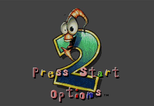 Титульный экран из игры Earthworm Jim 2 / Земляной Червяк Джим 2