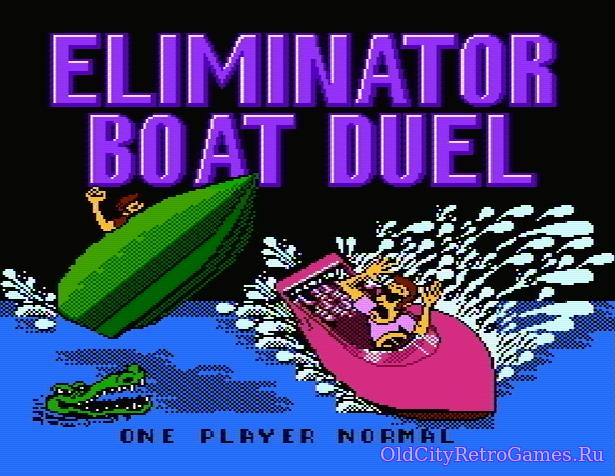 Титульный экран из игры Eliminator Boat Duel / Элиминэйтор Боат Дуэл (Лодочная Дуэль)