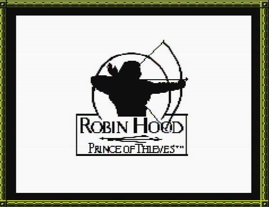 Титульный экран из игры Robin Hood: Prince of Thieves / Робин Гуд: Принц Воров
