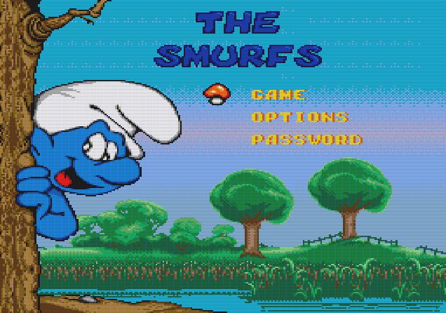Титульный экран из игры Smurfs 'the / Смурфы