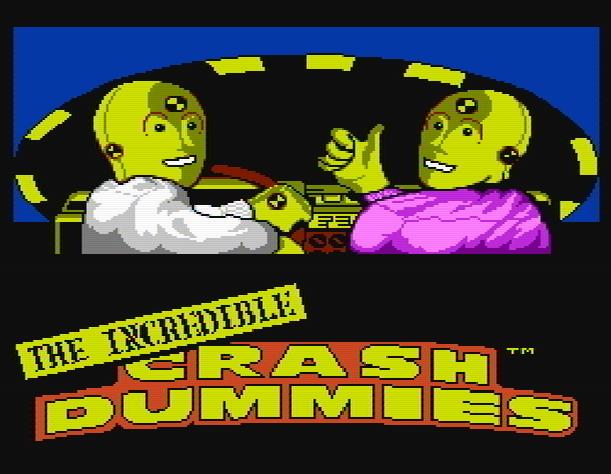 Титульный экран из игры Incredible Crash Dummies the, Невероятные Тестовые Манекены