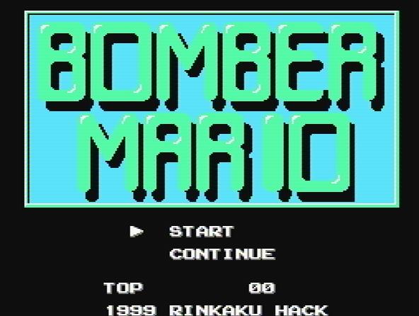 Титульный экран из игры Bomber Mario / Бомбер Марио