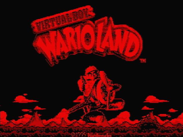 Титульный экран из игры Virtual Boy Wario Land / Виртуал Бой Варио Ленд