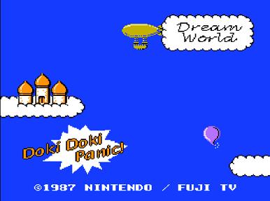 Титульный экран из игры Yume Koujou Doki Doki Panic / Машина Мечты Доки Доки Паника