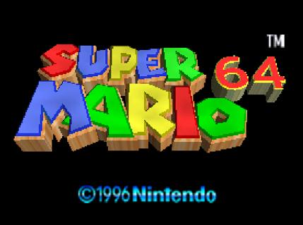 Титульный экран из игры Super Mario 64 / Супер Марио 64