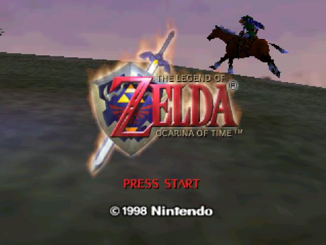 Титульный экран из игры Legend of Zelda 'the: Ocarina of Time / Легенда Зельды: Окарина Времени