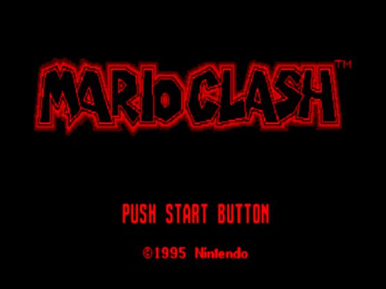 Титульный экран из игры Mario Clash / Марио Клэш