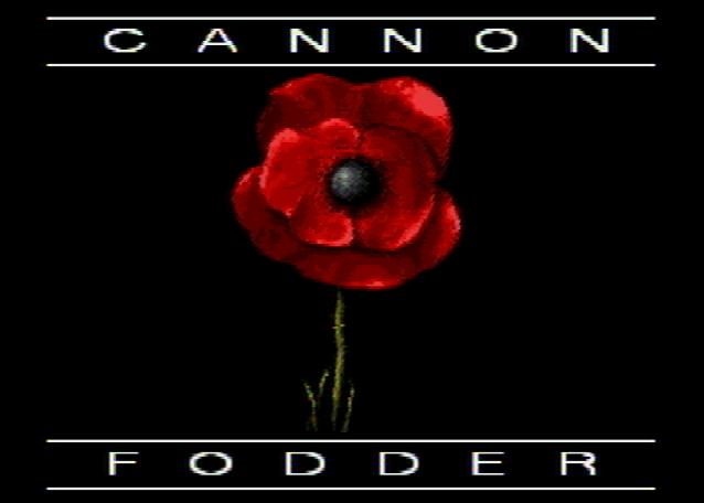 Титульный экран из игры Cannon Fodder / Пушечное Мясо
