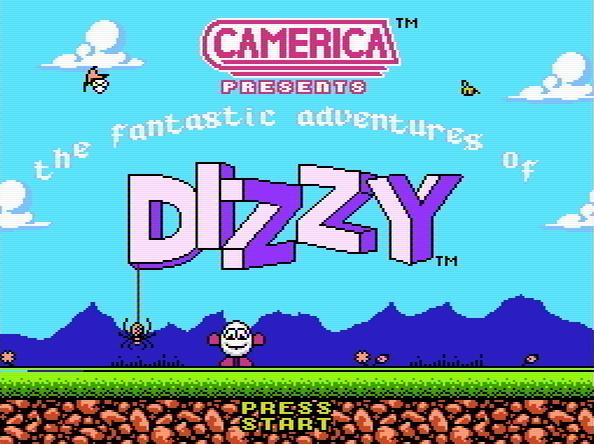 Титульный экран из игры Fantastic Adventures of Dizzy, the / Фантастические Приключения Диззи
