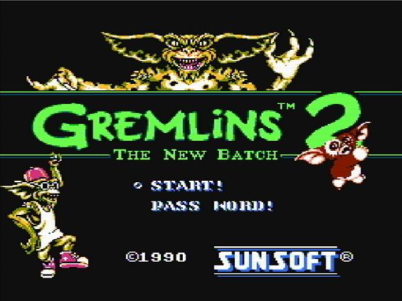 Титульный экран из игры Gremlins 2 - The New Batch / Гремлины 2 - Новенькая Партия