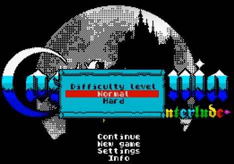 Титульный экран из игры Castlevania: Spectral Interlude
