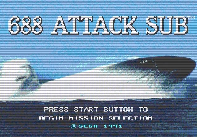 Титульный экран из игры 688 Attack Sub / 688 Атакующая Субмарина (Подводная Лодка)