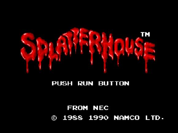 Титульный экран из игры Splatterhouse 2 / Сплаттерхаус 2