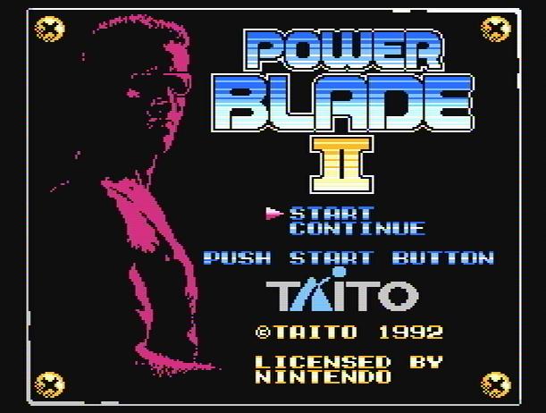 Титульный экран из игры Power Blade 2 / Пауэр Блэйд 2
