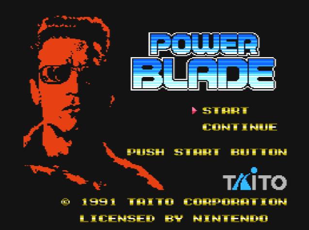 Титульный экран из игры Power Blade / Пауэр Блэйд
