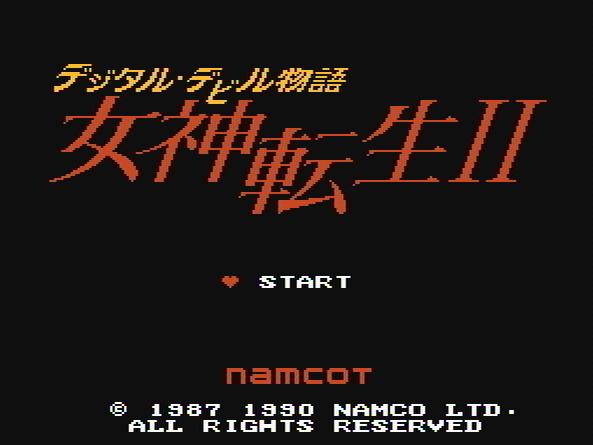 Титульный экран из игры Digital Devil Monogatari - Megami Tensei II / デジタルデビル物語 女神転生Ⅱ