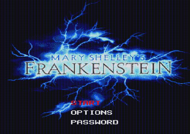 Титульный экран из игры Mary Shelley's Frankenstein / Франкенштейн Мэри Шелли