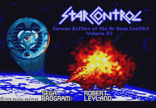 Титульный экран из игры Star Control / Звездный Контроль