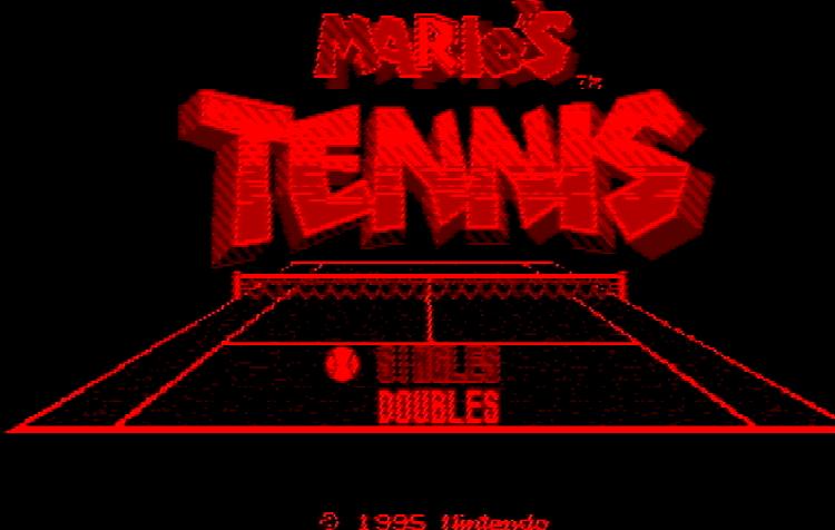 Титульный экран из игры Mario's Tennis / Теннис с Марио