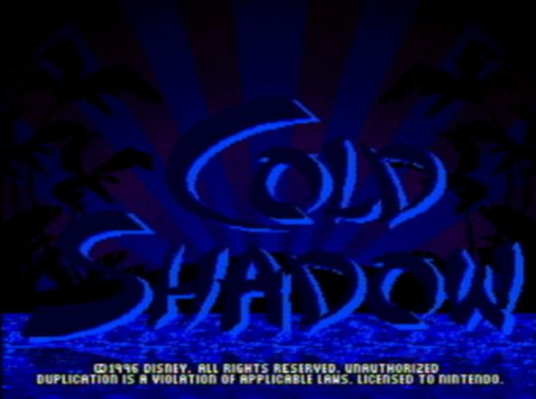 Титульный экран из игры Maui Mallard in Cold Shadow / Мауи Маллард в Колд Шадоу