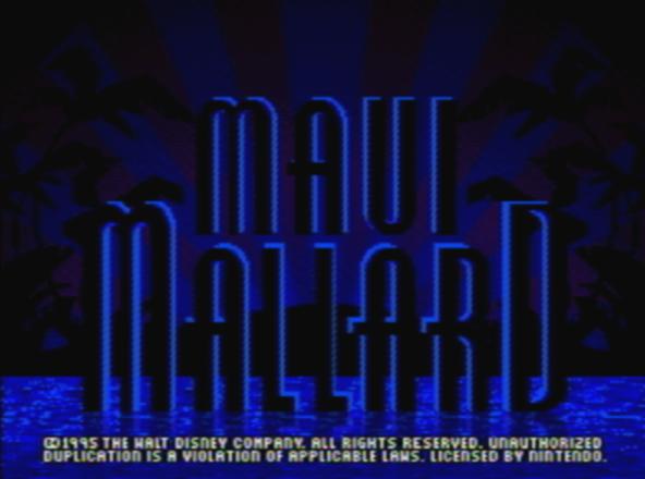 Титульный экран из игры Donald Duck in Maui Mallard / Дональд Дак в Мауи Маллард