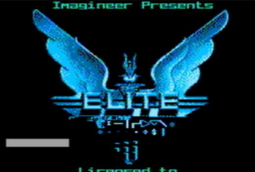 Титульный экран из игры Elite / Элита