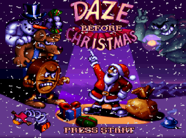 Титульный экран из игры Daze Before Christmas / Проделки перед Рождеством