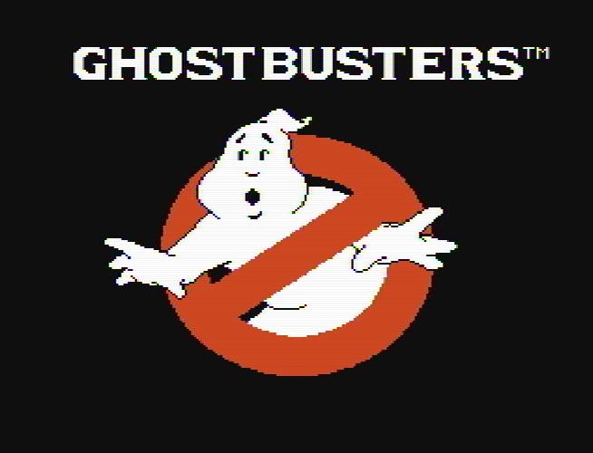 Титульный экран из игры Ghostbusters / Охотники за Привидениями
