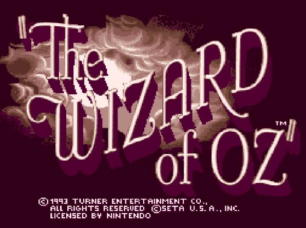 Титульный экран из игры Wizard Of Oz 'the / Волшебник страны Оз