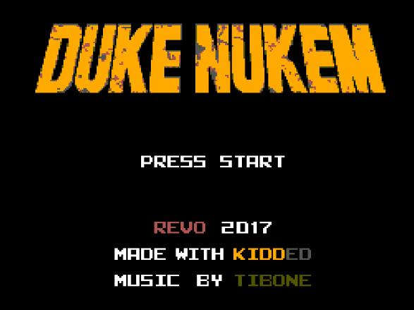 Титульный экран из игры Duke Nukem / Дюк Нюкем