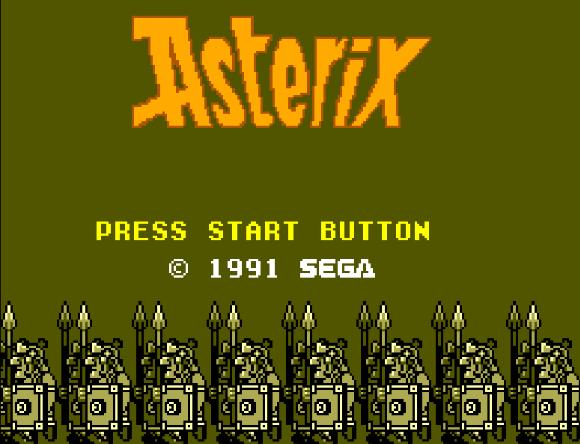 Титульный экран из игры Asterix / Астерикс