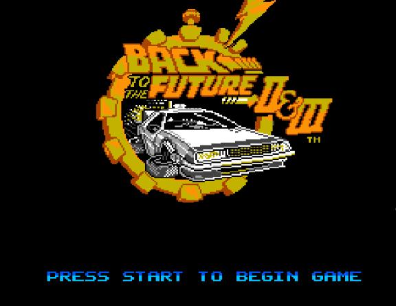 Титульный экран из игры Back to the Future II & III / Назад в Будущее 2 и 3