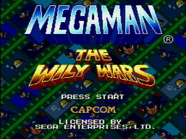 Титульный экран из игры Mega Man: The Wily Wars