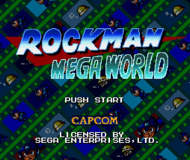 Титульный экран из игры Rockman Mega World
