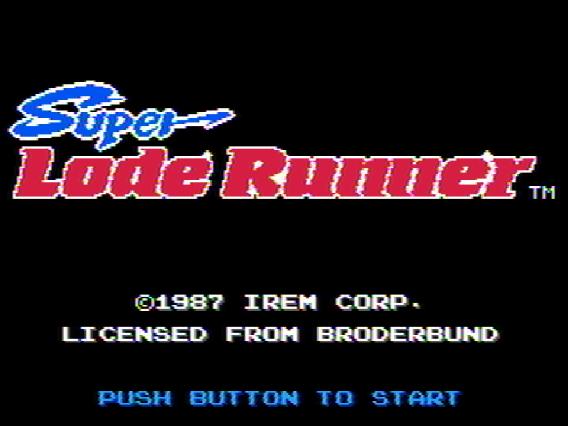 Титульный экран из игры Super Lode Runner, スーパーロードランナー