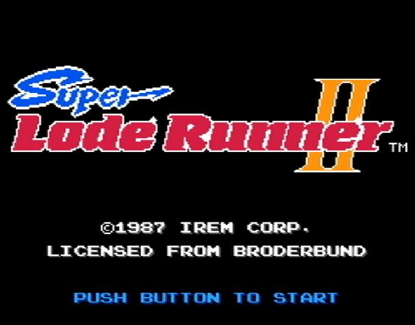 Титульный экран из игры Super Lode Runner II, スーパーロードランナーⅡ