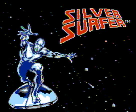 Титульный экран из игры Silver Surfer / Серебрянный Сёрфер