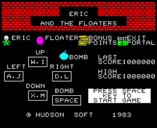 Титульный экран из игры Eric and the Floaters / Эрик и Летуны