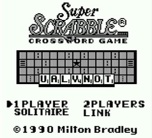 Титульный экран из игры Super Scrabble / Супер Скрэббл