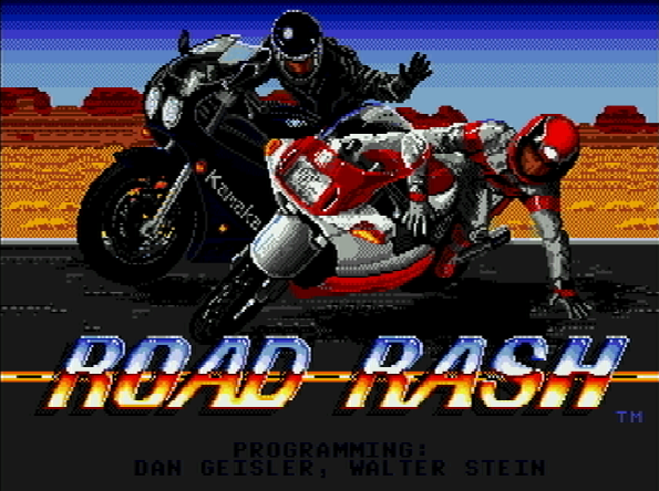 Титульный экран из игры Road Rash / Роуд Раш