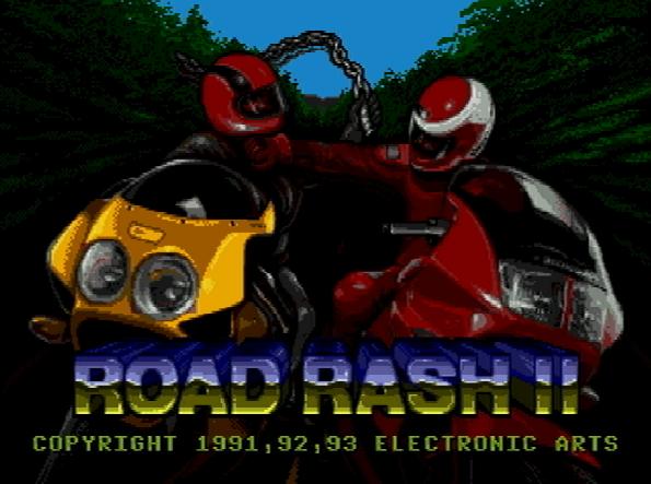 Титульный экран из игры Road Rash 2 / Роуд Раш 2