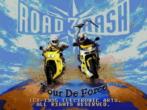 Титульный экран из игры Road Rash 3 Tour De Force