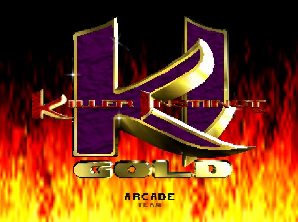 Титульный экран из игры Killer Instinct Gold / Киллер Инстинкт Голд