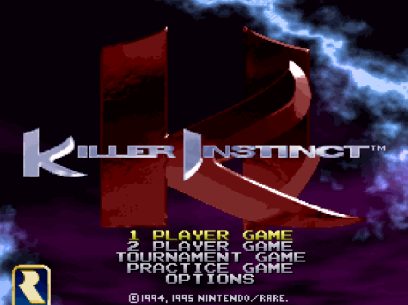 Титульный экран из игры Killer Instinct / Киллер Инстинкт