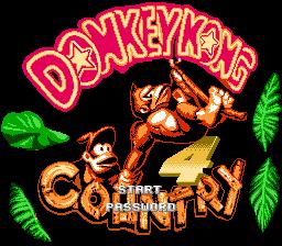 Титульный экран из игры Donkey Kong Country 4 / Страна Донки Конга 4