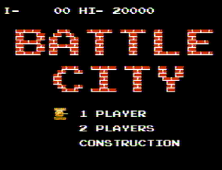 Титульный экран из игры Battle City / Батл Сити