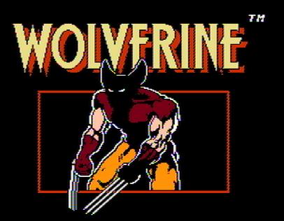 Титульный экран из игры Wolverine / Росомаха