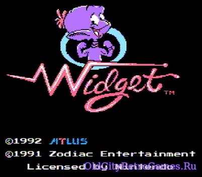 Титульный экран из игры Widget / Виджет